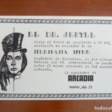 Cine: EL DOCTOR JECKYLL Y SU HERMANA HYDE FOLLETO DE MANO ORIGINAL ESTRENO CINE ARCADIA BARCELONA. Lote 224383892