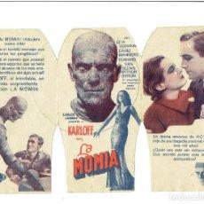 Cine: LA MOMIA - PROGRAMA TRÍPTICO TROQUELADO -CON BORIS KARLOFF- RARÍSIMO. Lote 224412333