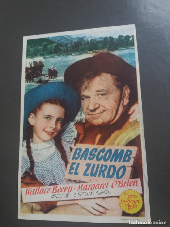 BASCOMB EL ZURDO CON PUBLICIDAD CINE OLYMPIA GRÁFICAS CANTABRIA (Cine - Folletos de Mano - Westerns)