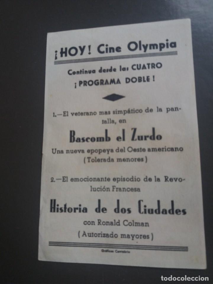 Cine: Bascomb el zurdo con Publicidad Cine Olympia Gráficas Cantabria - Foto 2 - 224592992
