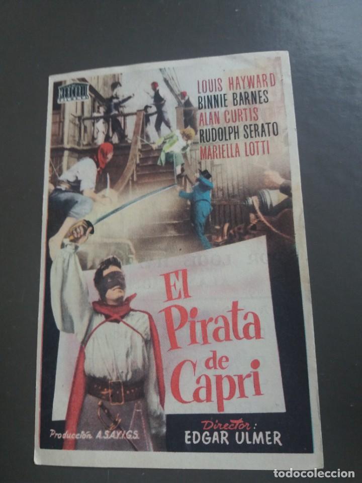 EL PIRATA DE CAPRI CON PUBLICIDAD CINE ESPAÑA PUENTE GENIL (Cine - Folletos de Mano - Aventura)