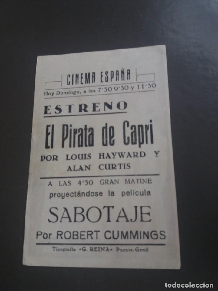 Cine: El pirata de Capri con Publicidad Cine España Puente Genil - Foto 2 - 224597041