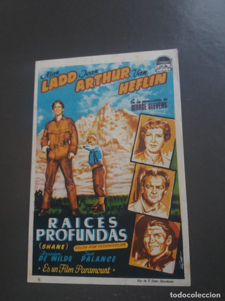 RAÍCES PROFUNDAS CON PUBLICIDAD CINE CHAPI (Cine - Folletos de Mano - Westerns)