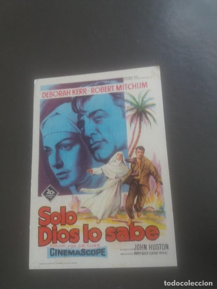 SÓLO DIOS LO SABE CON PUBLICIDAD TEATRO CINEMA VILLARREAL (Cine - Folletos de Mano - Aventura)