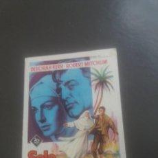 Cine: SÓLO DIOS LO SABE CON PUBLICIDAD TEATRO CINEMA VILLARREAL. Lote 224601656