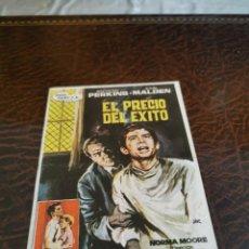 Flyers Publicitaires de films Anciens: PROGRAMA DE MANO ORIG - EL PRECIO DEL ÉXITO - CON CINE MAR IMPRESO AL DORSO. Lote 224603840