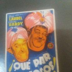 Folhetos de mão de filmes antigos de cinema: QUE PAR DE LOCOS CON PUBLICIDAD CINE MUNICIPAL CÁDIZ. Lote 224626006