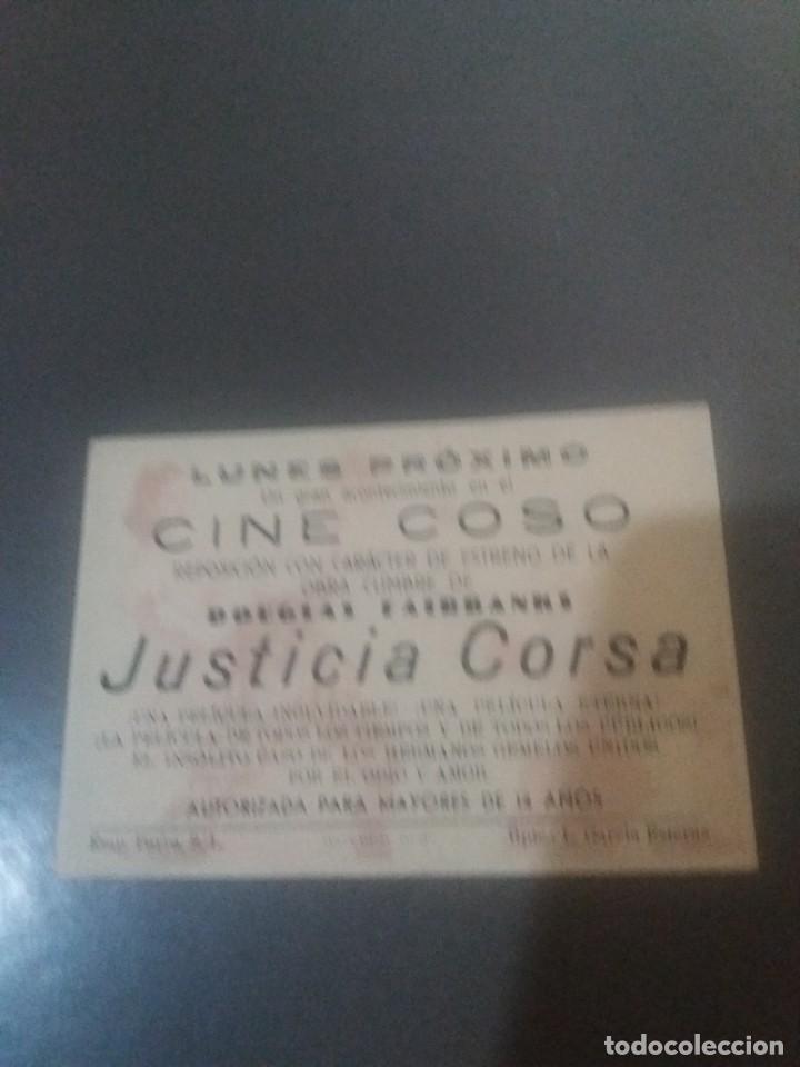 Cine: Justicia corsa con Publicidad Cine Coso Zaragoza - Foto 2 - 224626760