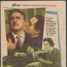 Flyers Publicitaires de films Anciens: PROGRAMA SENCILLO DE LA HERIDA LUMINOSA (1956) - CINEMA VICTORIA DE LA POBLA LLARGA. Lote 224700863