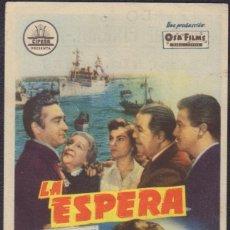Flyers Publicitaires de films Anciens: PROGRAMA SENCILLO DE LA ESPERA (1956) - PRINCIPAL CINEMA DE LA POBLA LLARGA. Lote 224703262