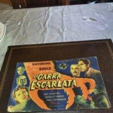 Flyers Publicitaires de films Anciens: PROGRAMA DE MANO ORIG - LA GARRA ESCARLATA - SIN CINE IMPRESO AL DORSO. Lote 224716620