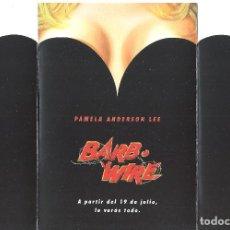 Folhetos de mão de filmes antigos de cinema: BARB WIRE PROGRAMA TROQUELADO SOGEPAQ PAMELA ANDERSON SEXY SCI-FI COMIC. Lote 224857836
