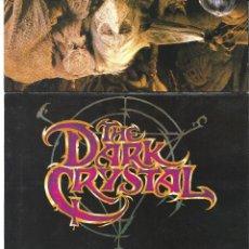 Folhetos de mão de filmes antigos de cinema: CRISTAL OSCURO PROGRAMA DOBLE UNIVERSAL FRANK OZ JIM HENSON CIENCIA FICCION. Lote 224860256