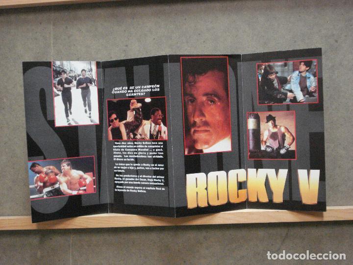 Cine: ROCKY 5 PROGRAMA DOBLE DESPLEGABLE UNITED ARTISTS SYLVESTER STALLONE BOXEO - Foto 2 - 224873468