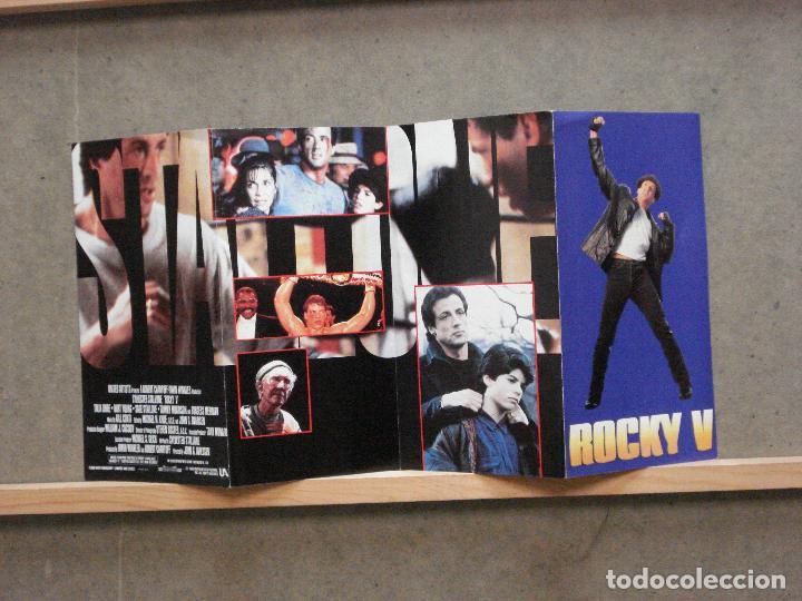 ROCKY 5 PROGRAMA DOBLE DESPLEGABLE UNITED ARTISTS SYLVESTER STALLONE BOXEO (Cine - Folletos de Mano - Deportes)