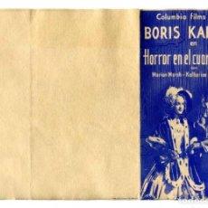 Cine: HORROR EN EL CUARTO NEGRO, CON BORIS KARLOFF.. Lote 224874796