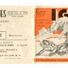 Foglietti di film di film antichi di cinema: IGLOO.. Lote 224907503