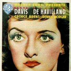 Folhetos de mão de filmes antigos de cinema: PROGRAMA DE MANO. ...COMO ELLA SOLA. BETTE DAVIS OLIVIA DE HAVILLAND (JOHN HOUSTON) WARNER BROTHERS. Lote 224946823