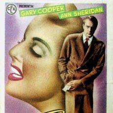 Folhetos de mão de filmes antigos de cinema: PROGRAMA DE MANO. EL BUEN SAM. GARY COOPER ANN SHERIDAN. CP (LEO MCCAREY) RKO RADIO FILMS, 1949. Lote 224946901