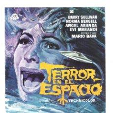 Cine: TERROR EN EL ESPACIO MARIO BAVA PROGRAMA PRUEBA DE IMPRENTA DEL CARTEL. Lote 224986255