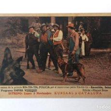 Foglietti di film di film antichi di cinema: RIN TIN TIN POLICÍA, PROGRAMA TARJETA CINE MUDO, 1925. CINE KURSAAL Y CATALUÑA. RARÍSIMA. Lote 224987705