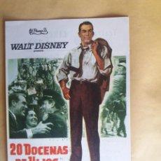 Cine: 20 DOCENAS DE HIJOS CON PUBLICIDAD TEATRO CIRCO. Lote 224995560