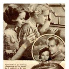 Foglietti di film di film antichi di cinema: MARY BURNS, FUGITIVA, CON SYLVIA SIDNEY.. Lote 225006410