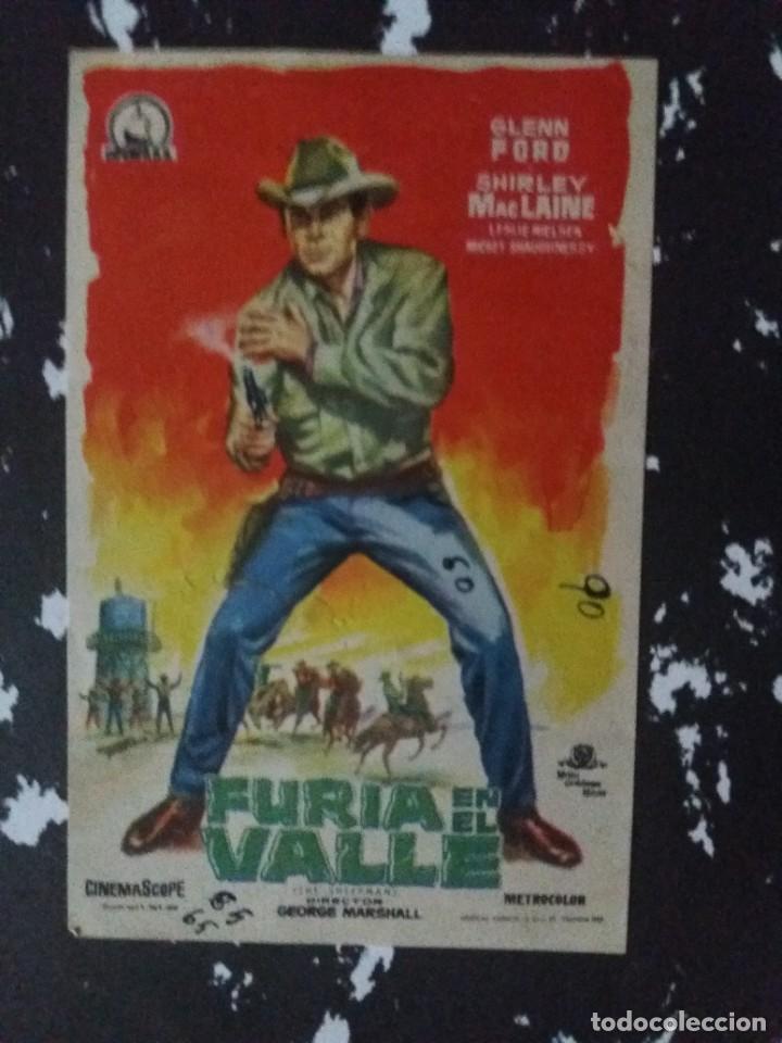 FURIA EN EL VALLE CON PUBLICIDAD CINE COLISEO EQUITATIVA ZARAGOZA (Cine - Folletos de Mano - Westerns)