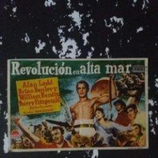 Cine: REVOLUCION EN ALTA MAR CON PUBLICIDAD TEATRO RIBADEO LUGO. Lote 225057406