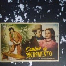 Cine: CAMINO DE SACRAMENTO CON PUBLICIDAD CINEMA IMPERIO BAENA. Lote 225160958