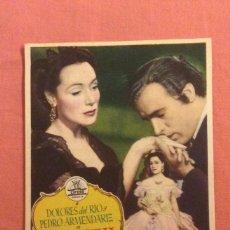 Foglietti di film di film antichi di cinema: FOLLETO DE MANO BUGAMBILIA. PUBLICIDAD MONUMENTAL CINEMA. Lote 225220371