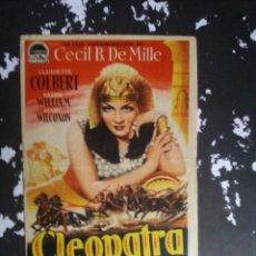 Cine: CLEOPATRA CON PUBLICIDAD CINE NO PONE NINGUNO RUTE. Lote 225299487