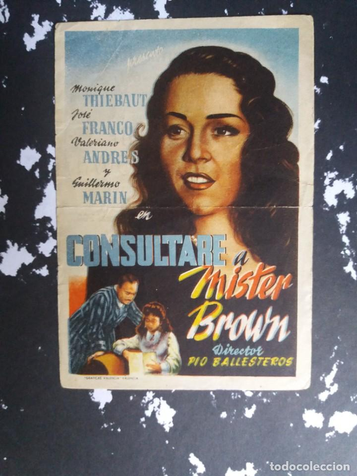 CONSULTARLE A MISTER BROWN CON PUBLICIDAD GRAN CINEMA LICEO RUTE (Cine - Folletos de Mano - Aventura)
