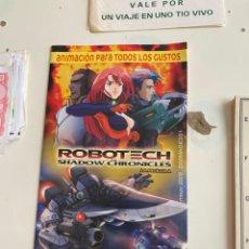 Cine: C-2002 FOLLETO ROBOTECH SHADOW CHRONICLES LA PELICULA 2009. Lote 225308330