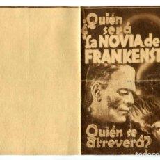 Cine: LA NOVIA DE FRANKENSTEIN, CON BORIS KARLOFF.. Lote 225333750