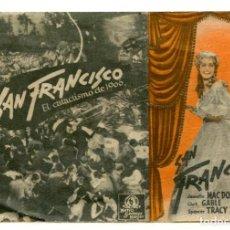 Cine: SAN FRANCISCO, CON CLARK GABLE.. Lote 225490055