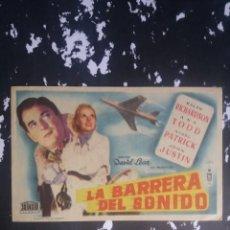 Cine: LA BARRERA DEL SONIDO CON PUBLICIDAD GRAN CINEMA LICEO RUTE. Lote 225542900