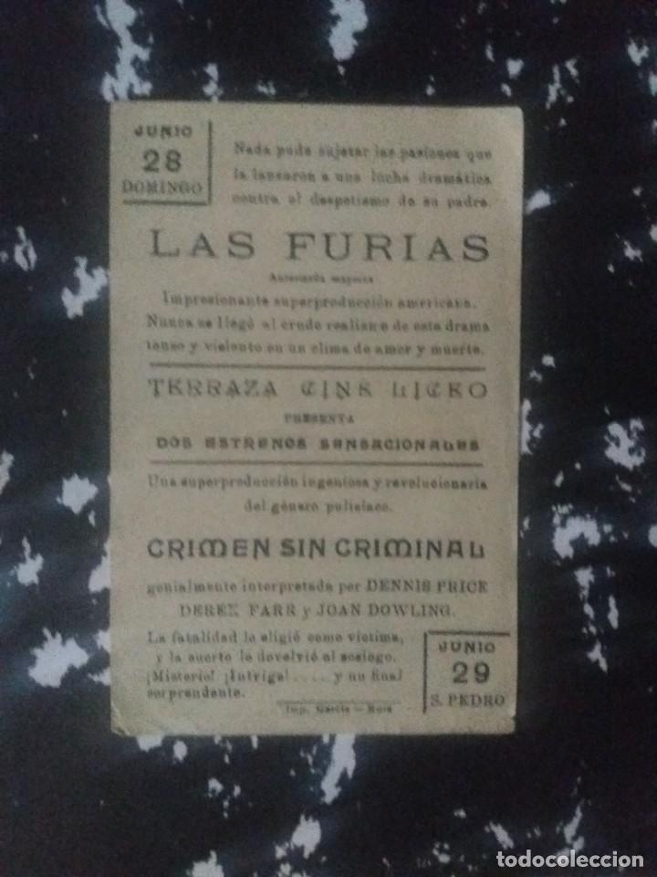Cine: Las furias Con Publicidad Terraza Cine Liceo Rute - Foto 2 - 225575543