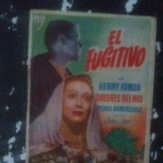 Cine: EL FUGITIVO CON PUBLICIDAD NO PONE CINE RUTE. Lote 225576675