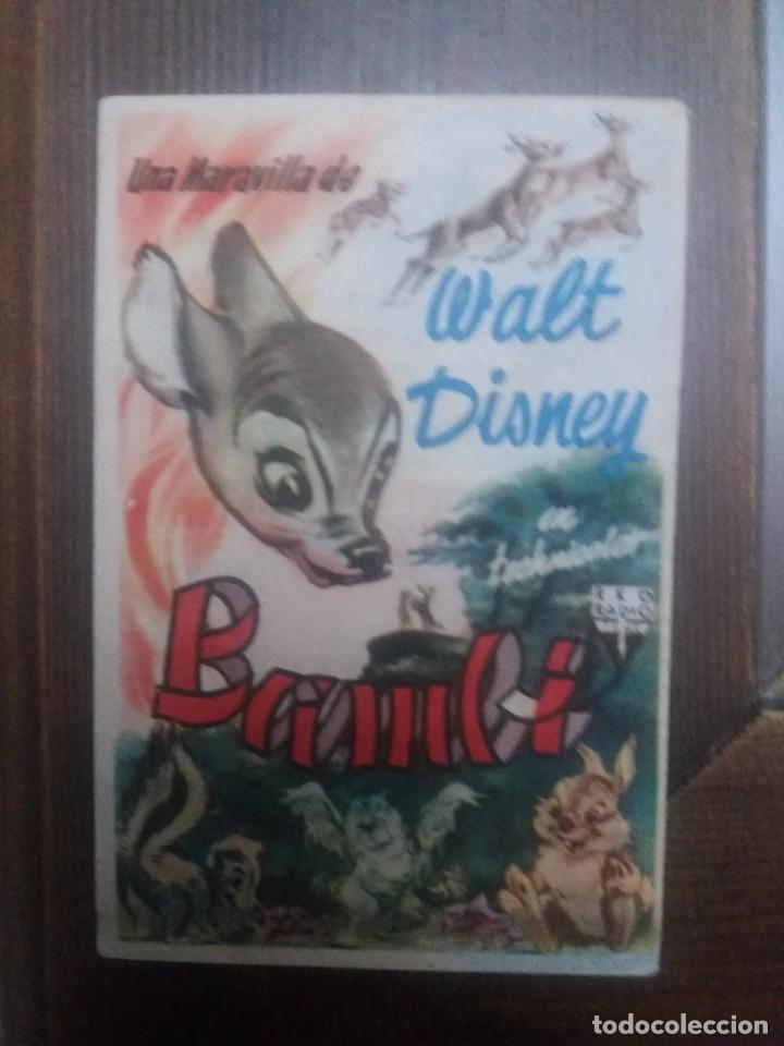 BAMBI CON PUBLICIDAD PALACIO DEL CINE CÓRDOBA (Cine - Folletos de Mano - Infantil)