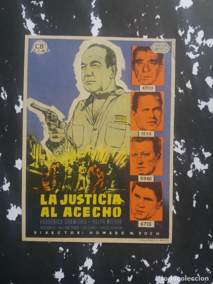 JUSTICIA AL ACECHO (Cine - Folletos de Mano - Drama)