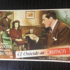 Flyers Publicitaires de films Anciens: EL ORÁCULO DEL CRIMEN - PROGRAMA DE CINE BADALONA C/P 1946. Lote 225774653