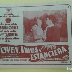 Cine: JOVEN VIUDA Y ESTANCIERA MECHA ORTIZ C.P. FOLLETO ORIGINAL ALGUN DEFECTO. Lote 225794740
