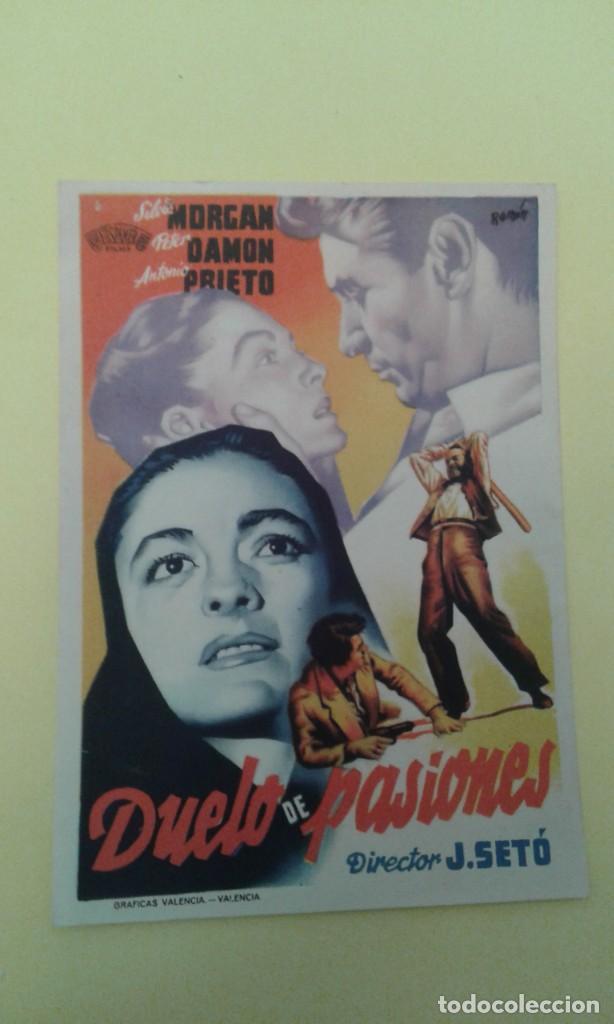 DUELO DE PASIONES SILVIA MORGAN S.P. FOLLETO ORIGINAL (Cine - Folletos de Mano - Drama)