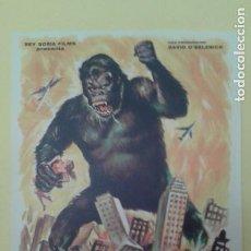 Folhetos de mão de filmes antigos de cinema: KING KONG FOLLETO ORIGINAL REPOSICION C.P. BUEN ESTADO. Lote 225813475