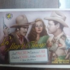 Cine: LA MUJER DE FUEGO CON SELLO CINEMA ADUANA BELMEZ. Lote 225839335