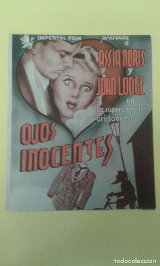 OJOS INOCENTES ASSIA NORIS JOHN LODGE FOLLETO ORIGINAL DOBLE C.P FIGARO. BUEN ESTADO (Cine - Folletos de Mano - Suspense)