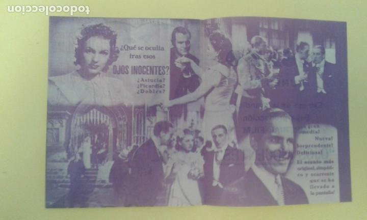 Cine: OJOS INOCENTES ASSIA NORIS JOHN LODGE FOLLETO ORIGINAL DOBLE C.P FIGARO. BUEN ESTADO - Foto 2 - 225959825