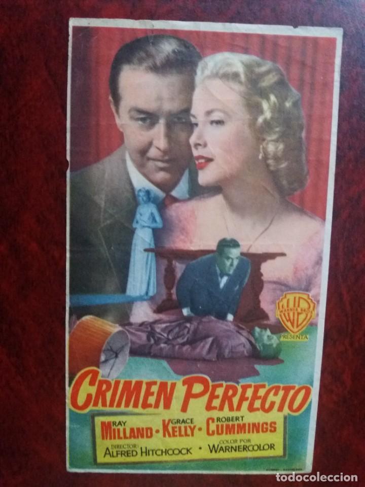 CRIMEN PERFECTO CON PUBLICIDAD CINE CAPITOL SANTA COLOMA DE GRAMANET (Cine - Folletos de Mano - Drama)