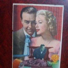 Folhetos de mão de filmes antigos de cinema: CRIMEN PERFECTO CON PUBLICIDAD CINE CAPITOL SANTA COLOMA DE GRAMANET. Lote 226067672